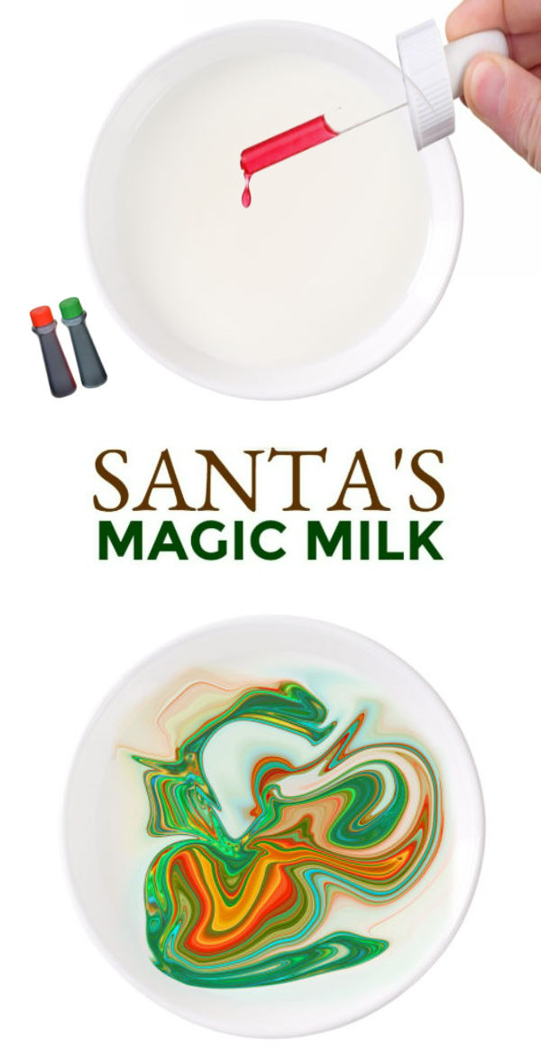 EXPERIMENT FOR KIDS: Santa's Magic Milk! Christmas science craft #santasmagicmilk #christmasscience #magicmilkexperiment #magicmilk #christmascrafts #scienceexperimentskids