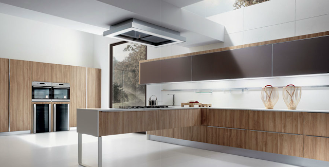 cocina moderna nogal
