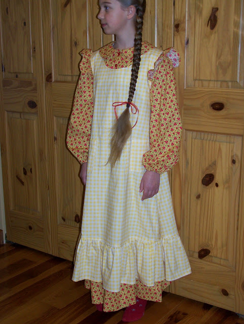 For Millie S 11th Birthday Yes My Baby Is Getting Old At Her Request I Made A Laura Ingalls Wilder Prairie Dress She Loves Fashioned Things