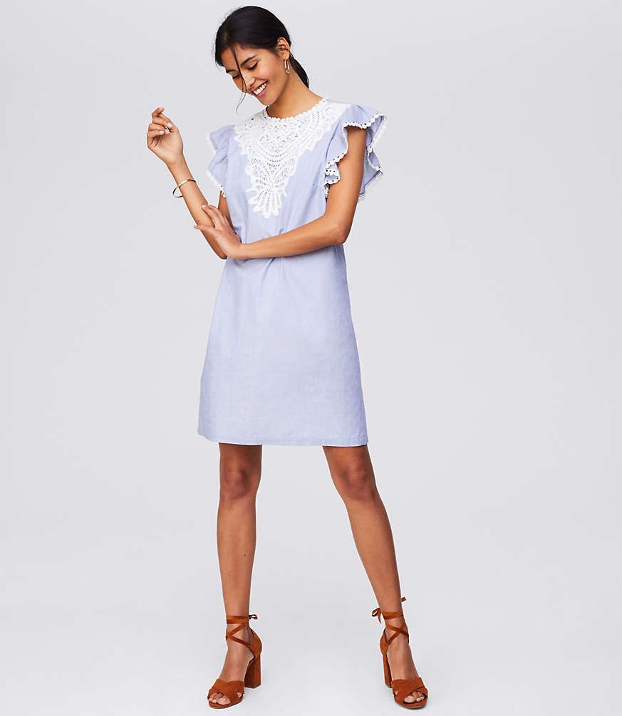 Lace Flutter Dress