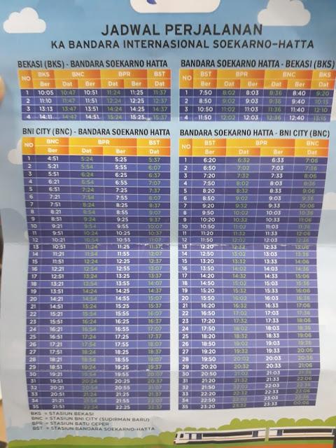 Jadwal KA Bandara Soekarno Hatta Railink