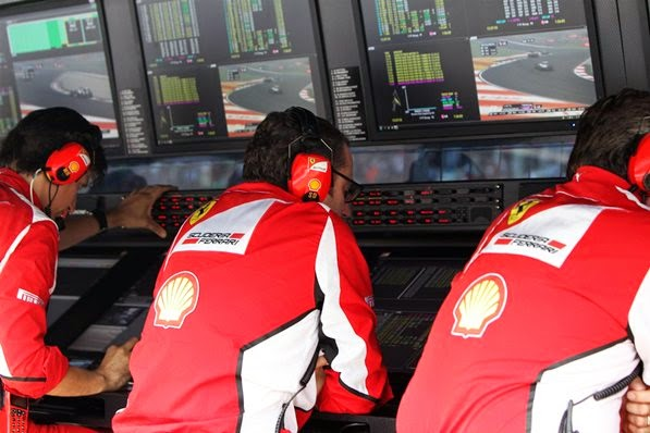 F1 Ferrari Crew Monitor Racing