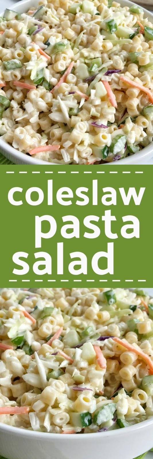 Coleslaw Pasta Salad Recipe