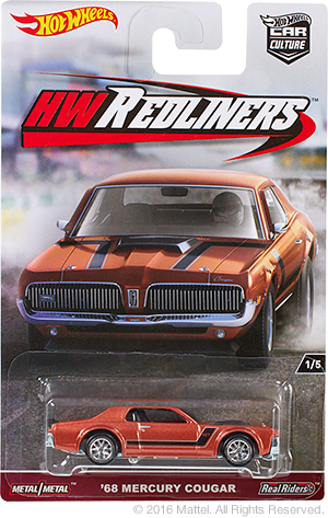 hot wheels mercury cougar redliners 2017
