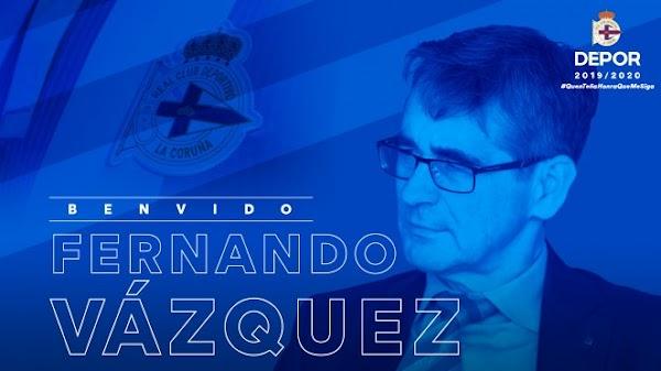 Oficial: Deportivo de la Coruña, firma el técnico Fernando Vázquez