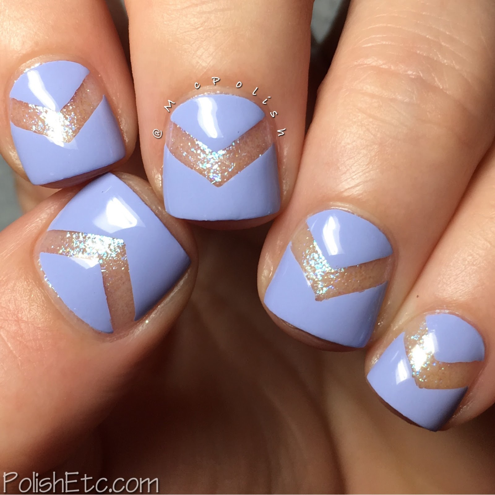 Glisten and Glow - Oh, The Placed You'll Go Collection - McPolish - negative space chevron