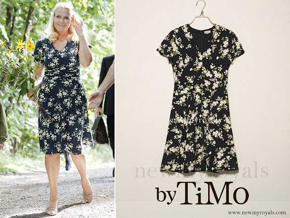 Crown Princess Mette Marit wore BY TIMO Autumn 50's Dress