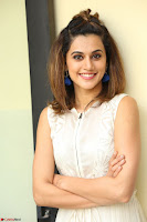Taapsee Pannu in cream Sleeveless Kurti and Leggings at interview about Anando hma ~  Exclusive Celebrities Galleries 039.JPG