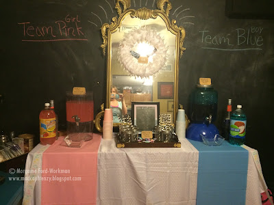 Gender Reveal Party on a Budget decor drinks