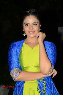 Telugu Cinema Actress Anchor Srimukhi Pictures at Rail Movie Audio Launch  0002.JPG