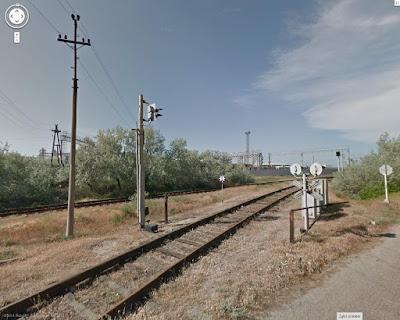 Droga na Krym, tory kolejowe