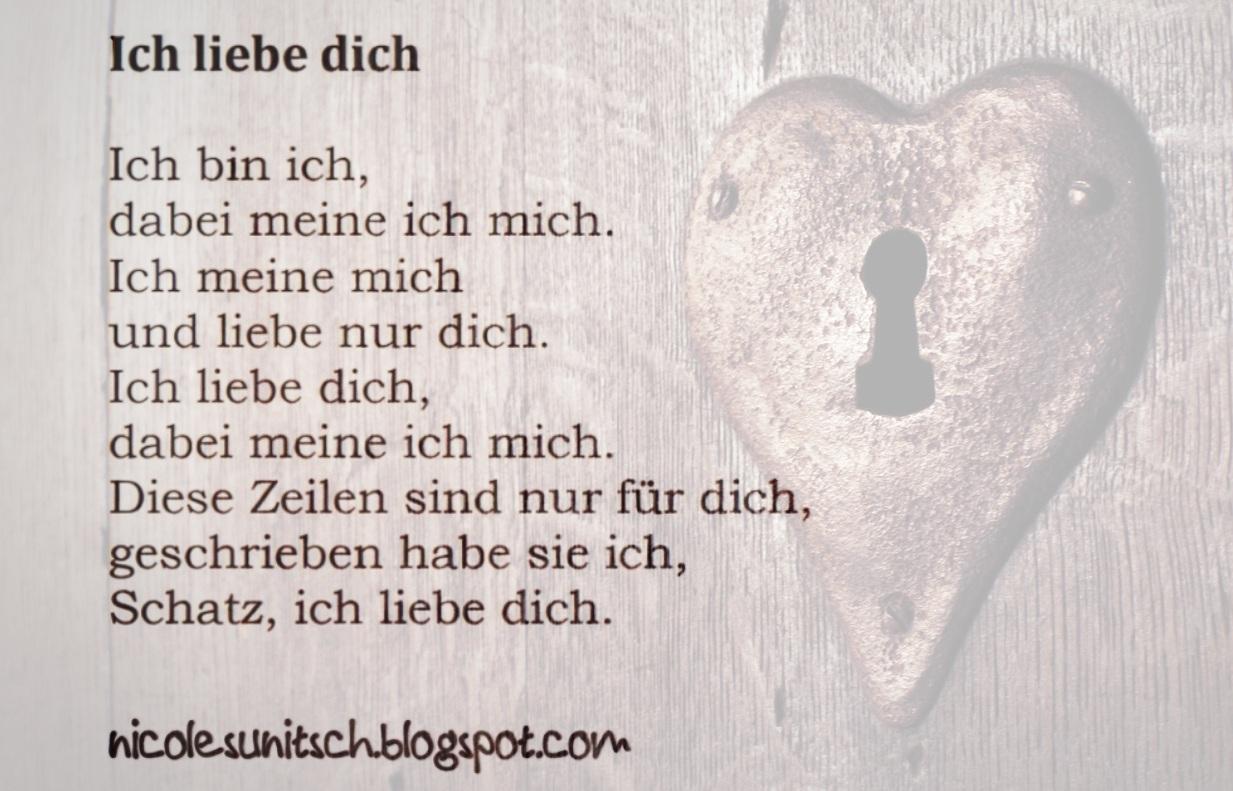 Gedichte Von Nicole Sunitsch Autorin Gedicht Ich Liebe Dich