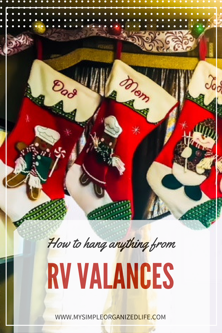 how to hang christmas stockings in an rv