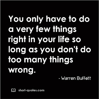 few things right quote warren buffett