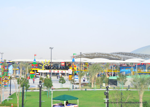 Legoland Dubai as seen from Riverland's bridge