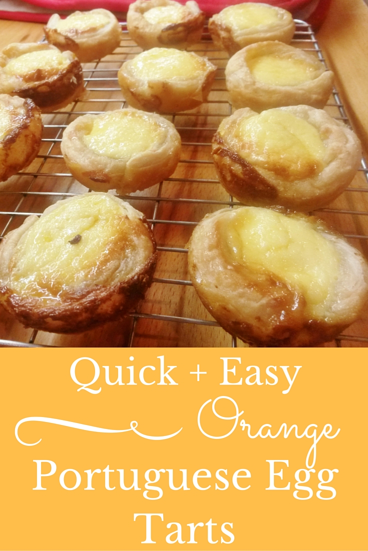 Easy Portuguese Egg Tarts Recipe Orange flavoured