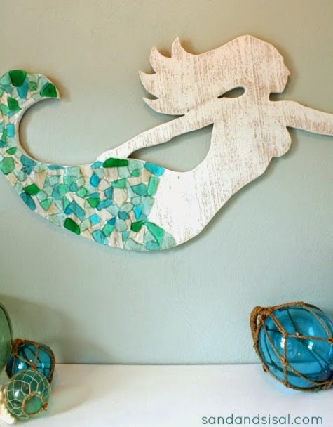 Make a Wood Mermaid for Wall Decor - Coastal Decor Ideas ...