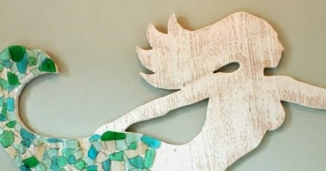 Make A Wood Mermaid For Wall Decor   Coastal Decor Ideas And Interior  Design Inspiration Images