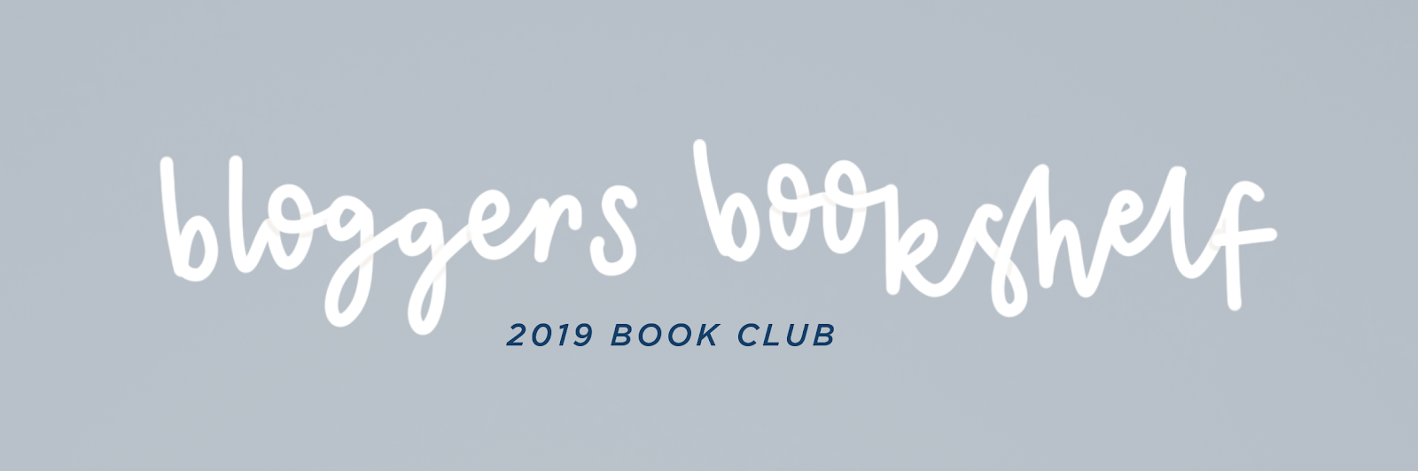 blogger's bookshelf book club 2019