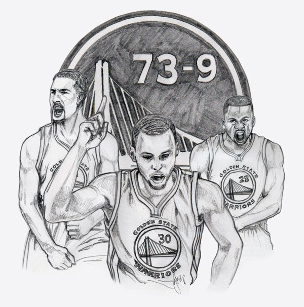 My Hobby Realm Art Golden State Warriors Stephen Curry