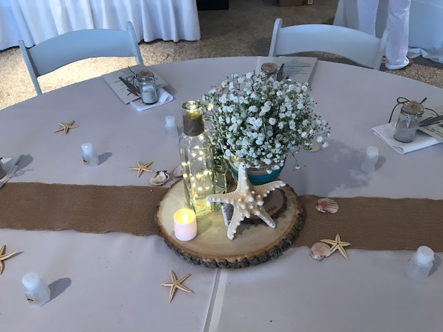 centerpiece, rustic centerpiece, beach wedding centerpiece, summer wedding, miami