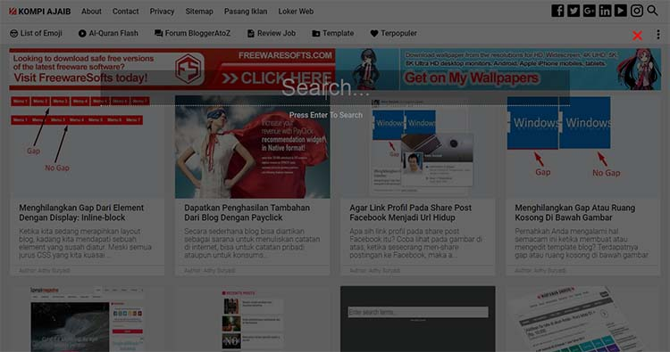 Membuat Floating Search Box Untuk Blog AMP HTML