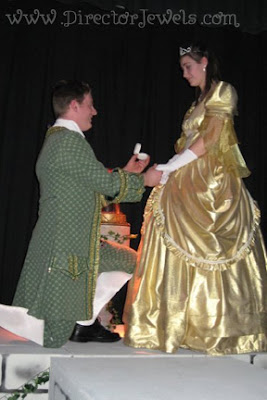 Beauty and the Beast, wedding, marriage, proposal, engagement, community theatre, romantic, belle, beast, prince