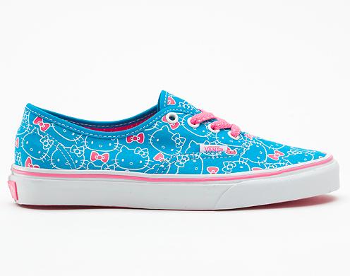 Vans  Hello Kitty Authentic Sneakers (Hawaiian Ocean Blue Hot Pink) 1a5d770b6