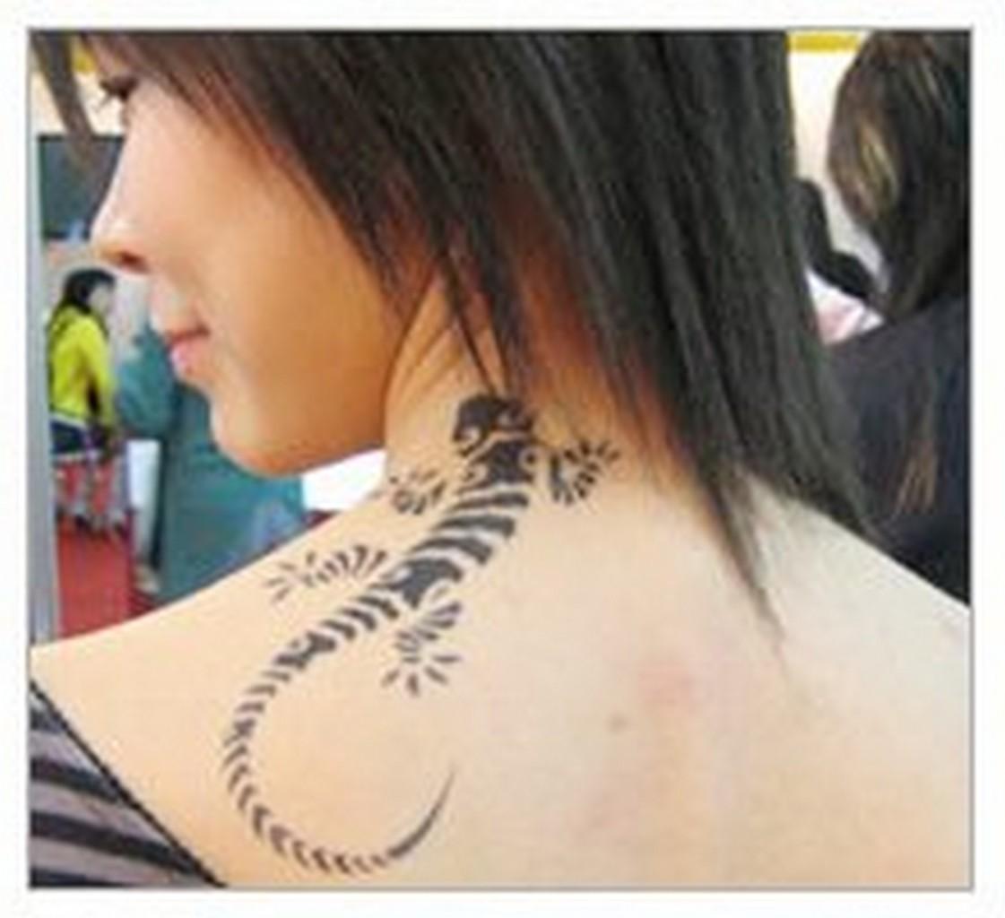 neck tattoo designs for girls 2012