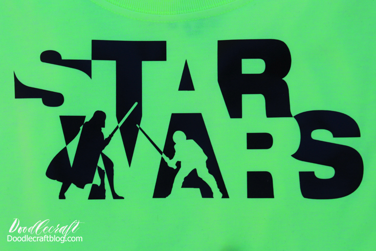 Make a custom star wars t-shirt with black vinyl