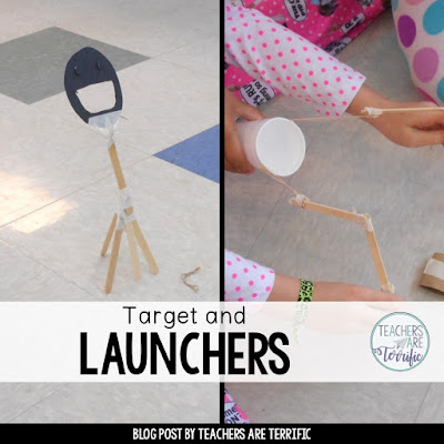 STEM! One team makes the target and one makes the launcher. Then they join together to make the whole device work! Can you hit the target?