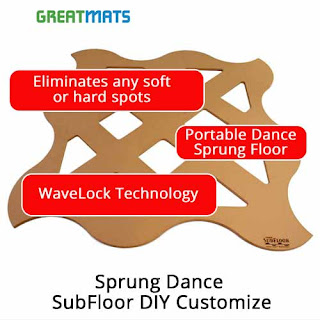 Greatmats Rosco Sprung Dance Floor DIY Wavelock Technology