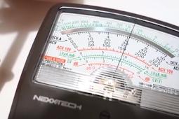 Cara pengukuran tegangan DC Multimeter