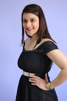 Mannara Chopra in Short Off Shoulder Black Dress ~  Exclusive 019.JPG