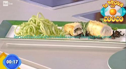 Involtini con battuta di olive ed insalata di puntarelle ricetta Fava da Prova del Cuoco