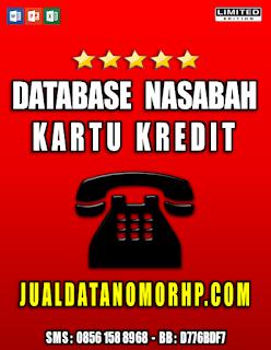 Jual Database Nasabah Kartu Kredit