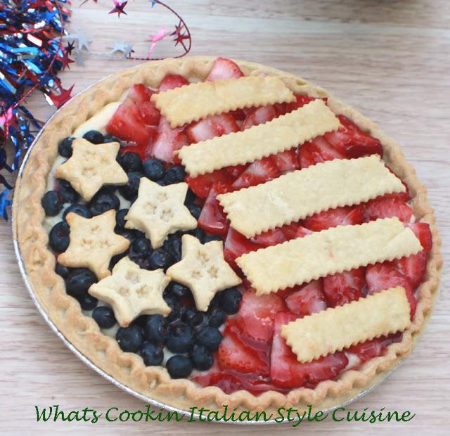 Patriotic Flag  Cheese Pie
