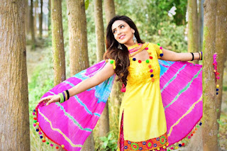 Bidya Sinha Saha New Image In Yellow Dress