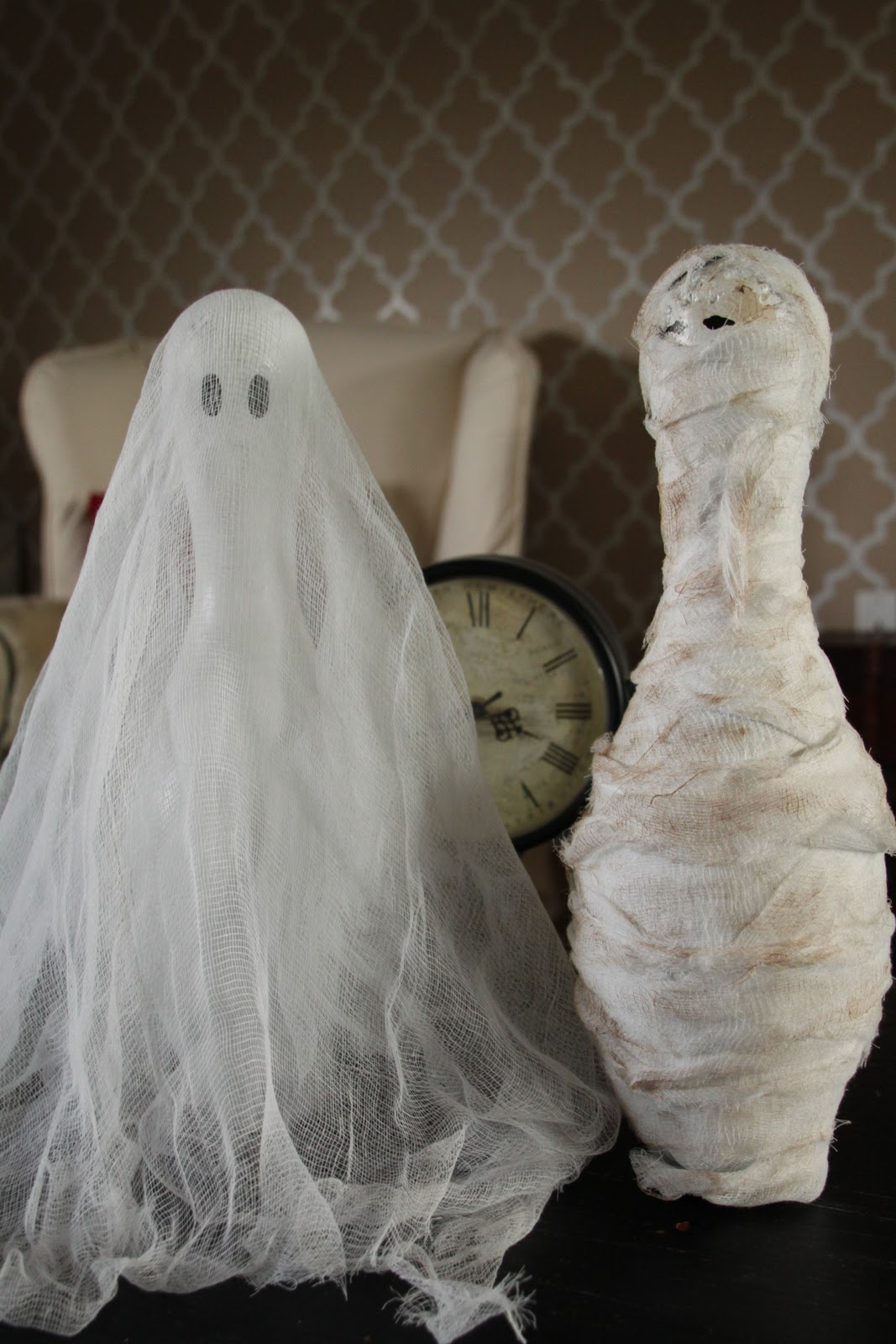 Creative Halloween Makeup Ideas A Subtle Revelry: Creative Mommas: Halloween Decorations: Ghost And Mummy