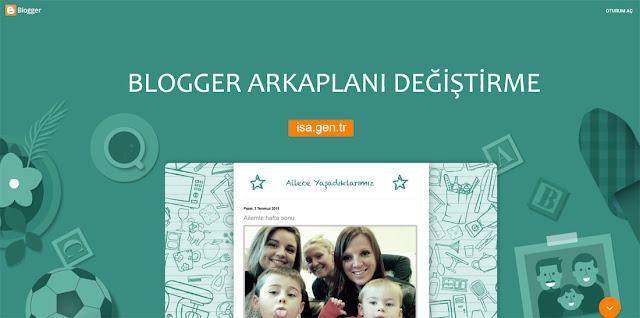 Blogger Arkaplan Ekleme ve Değiştirme