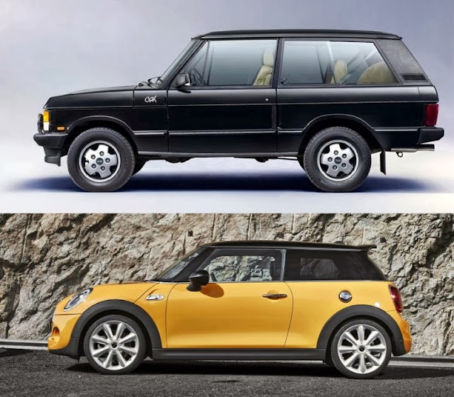 speedmonkey is the new mini really as big as the original range rover. Black Bedroom Furniture Sets. Home Design Ideas