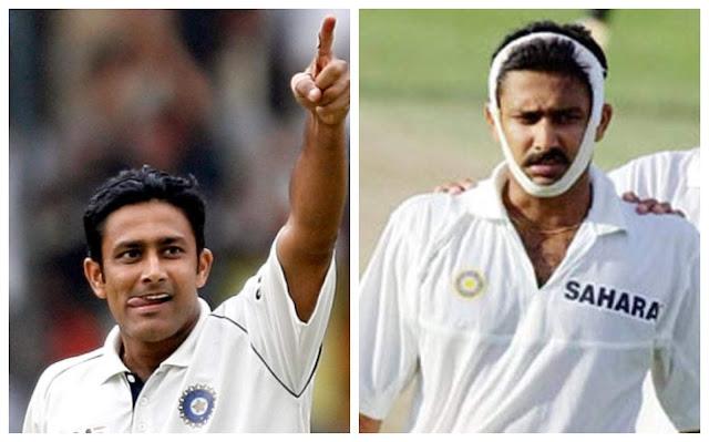 Anil Kumble Test Cricket Pics