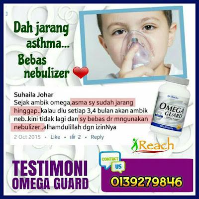 Testimoni pengguna yang mengambil Omega Guard Shaklee untuk mengatasi penyakit asma