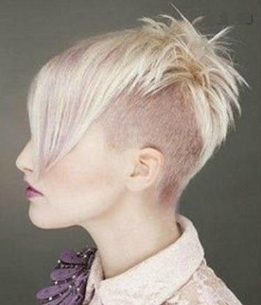 Corte de pelo mujer semi rapado