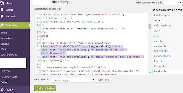 Gambar Pengaturan Hreflang Dan Canonical Pada Wordpress
