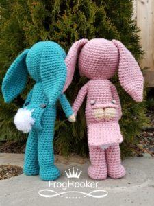 króliczki w piżamie wzór