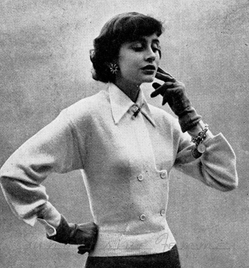 The Vintage Pattern Files: Free 1940s Knitting Pattern - Honeycombe Jacket