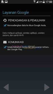 daftar akun google di android