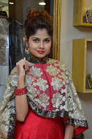 Anya South Actress model in Red Anarkali Dress at Splurge   Divalicious curtain raiser ~ Exclusive Celebrities Galleries 017.JPG