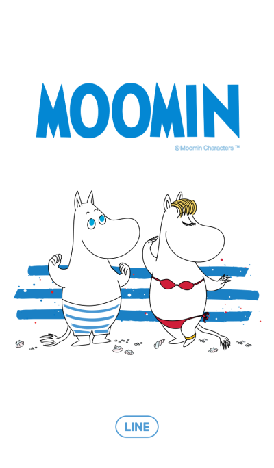 Moomin at the Beach